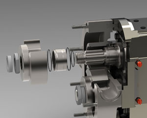 Ampco ZP1+ Series Clean-In-Place Piston Pump, exploded view