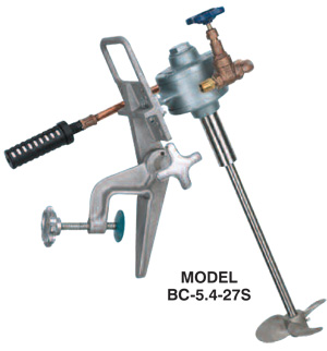 Series BC direct-drive air mixer with clamp mount