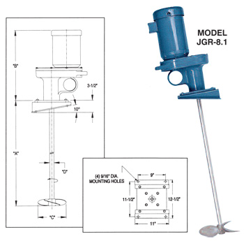 Neptune Series Jgr Angle Riser Mount Mixers Best Process