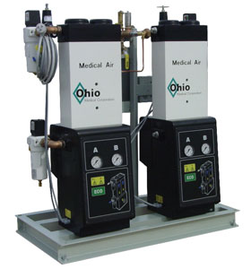 ohio medical oil less reciprocating piston air compressor systems ohio medical air compressor base configuration