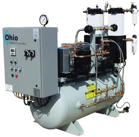 ohio medical oil less rotary scroll air systems dessicant ohio medical rotary scroll air system tank mounted duplex configuration
